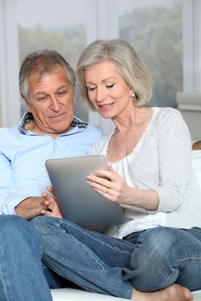 Senior couple Comparing Medicare Plans