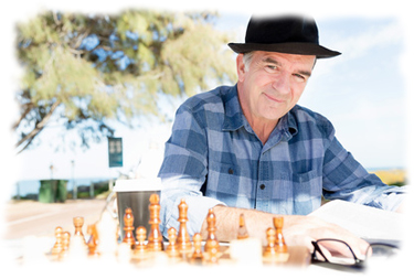 Medicare Man Playing Chess